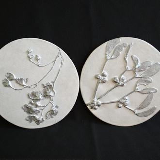 Панно Набор в серебре