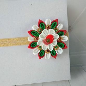 Новогоднее украшение для волос Повязка на голову ребенку Подарок на Рождество девочке