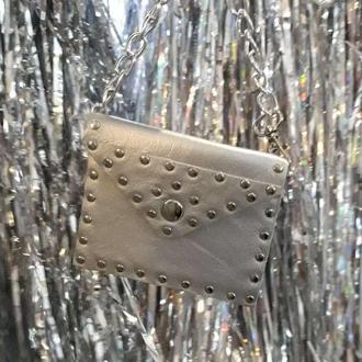 Кожаный кошелек -  брелок