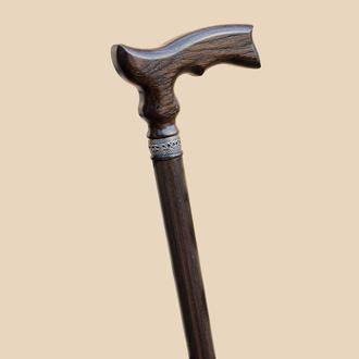 Класична дерев'яна трость для ходьби з ергономічною ручкою. Ексклюзивна палка для ходьбы.