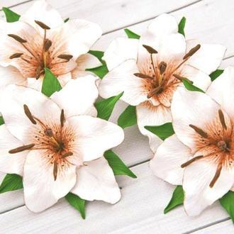 Лилия заколка в волосы Украшение для волос цветок лилии