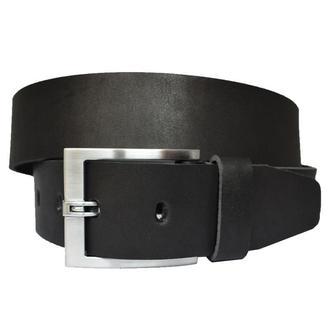 Grandos 4.5 см кожаный мужской черный широкий ремень кожа пояс кожанный