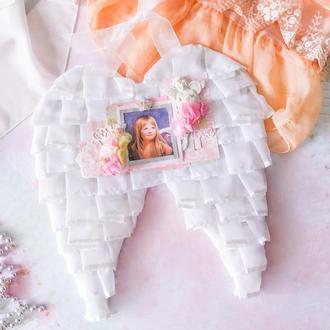 Настенное панно-фоторамка для девочки Крылья ангела