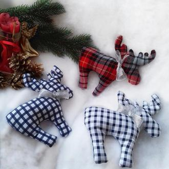 Лоси/Детские мягкие текстильные игрушки/Декор для детской комнаты/Лось тильда