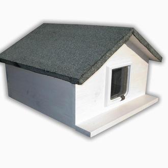 Домик для кота утепленная с дверками 50х50 см