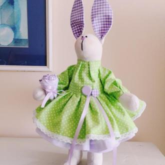 Зайка тильда Лилиана подарок игрушка заяц оригинальный декор сувенир