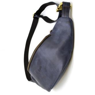 Стильная сумка на пояс бренда TARWA RK-3036-4lx синяя