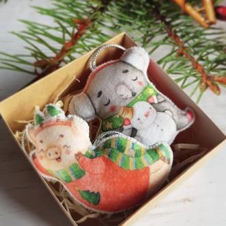 """Набор новогодних игрушек на елку """"Старый Новый год"""""""