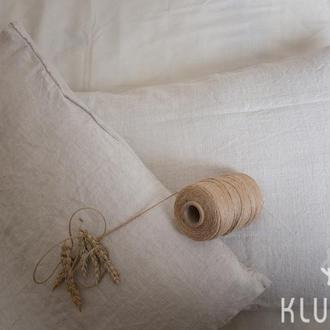 Наволочка из конопляной ткани ( HEMP) в подарочной упаковке..