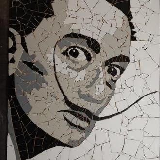 портрет с керамической плитки