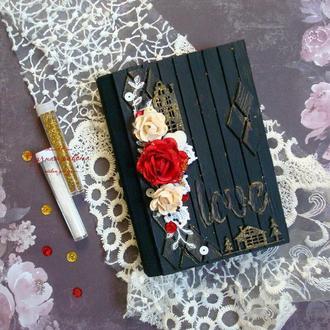 Блокнот  с цветами