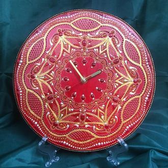 Часы с ручной росписью