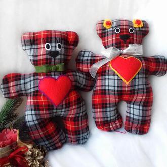 Сім'я ведмедиків/Мишка текстильний/Сплюшка/Засыпайка/М'яка іграшка