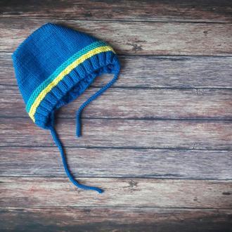 Спорт - вязаная шапочка для малыша в подарочной коробке