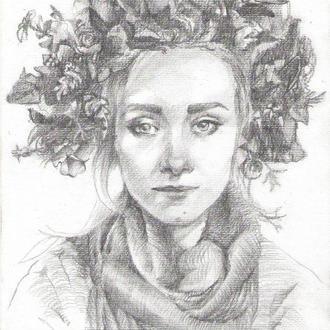 Портрет на замовлення по фото, олівець