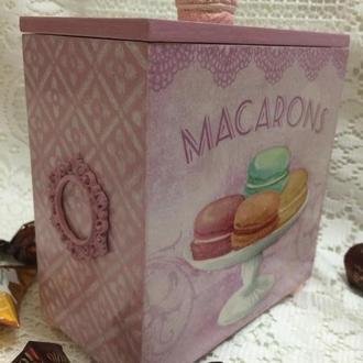 Короб для сыпучих/специй « Розовая сладость»