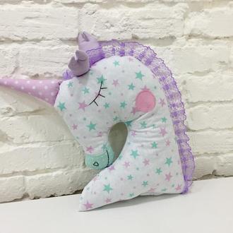 подушка единорог-игрушка сплюшка-подарок для девочки на день рожденья-подарки для детей