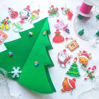 Ёлка из фетра | искусственная ёлка | детская ёлка | новогодняя игрушка |подарок под ёлку | 3d ёлка