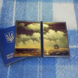 Обложка на паспорт Айвазовский Бриг Меркурий