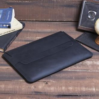 Кожаный чехол для ноутбука ручной работы
