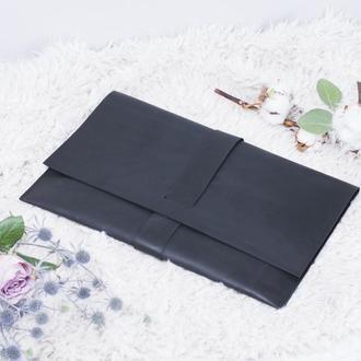 Кожаный черный чехол для Macbook