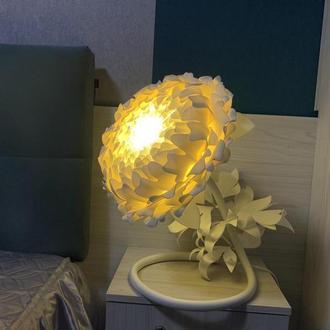 Светильник в виде пиона, прикроватный ночник цветок