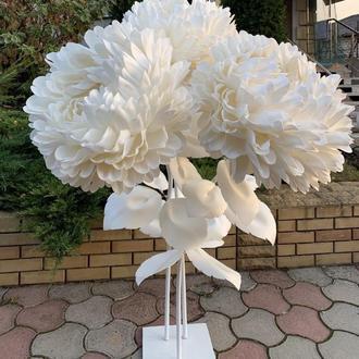 Ростовые пионы, большие цветы гиганты для свадебного декора, пионы из изолона
