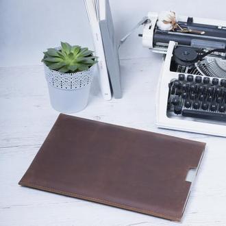 Компактный чехол для Macbook из натуральной кожи
