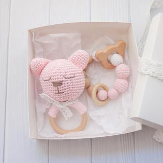 """Набор грызунков """"Розовый мишка"""""""