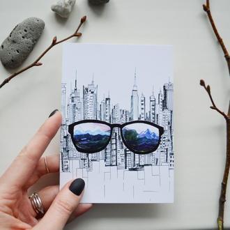 открытка Путешественник
