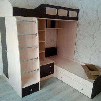 Кровать-чердак Woodmart для двух детей КЧД 116. Изготовление 14 дней