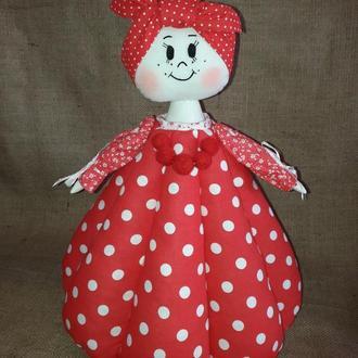 Интерьерная кукла НЕЛЯ - баба-грелка для чайника