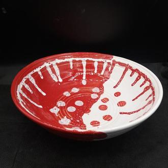 Тарелка керамическая глубокая.