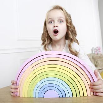 Огромная радуга пастель