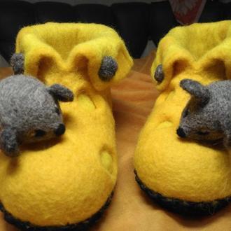 Тапки Мишки Тапки Криси Тапочки валяные из шерсти #тапки#подарунки#ексклюзивнодляВас