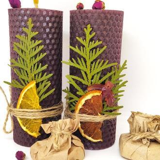 Натуральные свечи Подарок девушке маме сестре жене подруге Оригінальний подарок для дому і декору