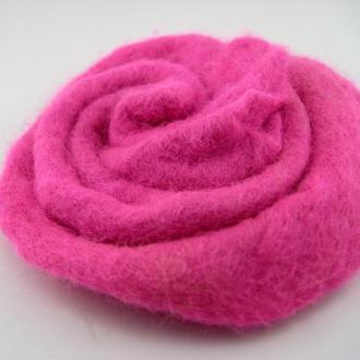 Брошь войлочная Розовая роза, d 8 см