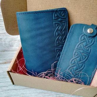 Подарочный набор синий кельтский узел (2 предмета)