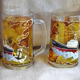 Пивные бокалы Морские