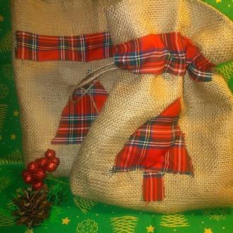 Эко мешки,  Эко торбиночки, упаковка для подарков. Мішечки з мішковини