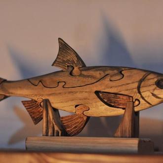 "Дерев'яна статуетка-пазл ""Риба"""