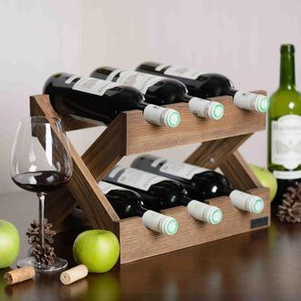 Стеллаж для бутылок вина из дерева. Подставка для бутылок.