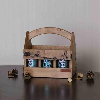 Ящик для пивных бутылок из корня дуба