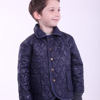 Стеганий синій піджак для хлопчика