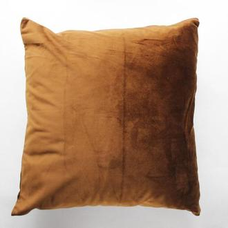 Велюровая наволочка для декоративной подушки