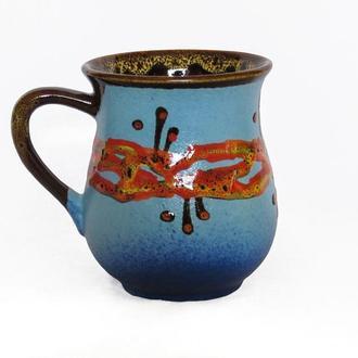 Горнятко блакитне, декор ′Крайка′
