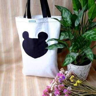 """Эко сумка """"Мышка"""", сумка для покупок, шоппер, сумка- пакет, котосумка, эко торба"""