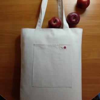 """Полотняная эко-сумка шоппер """"Удачных покупок"""""""