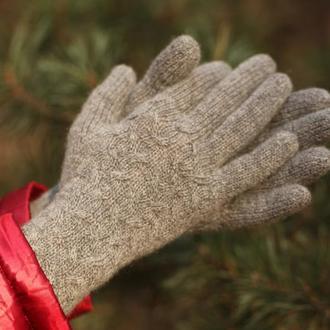 Женские перчатки. Вязаные перчатки. Перчатки с кашемиром