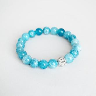 Браслет из голубого аквамарина (модель № 581) JK jewelry
